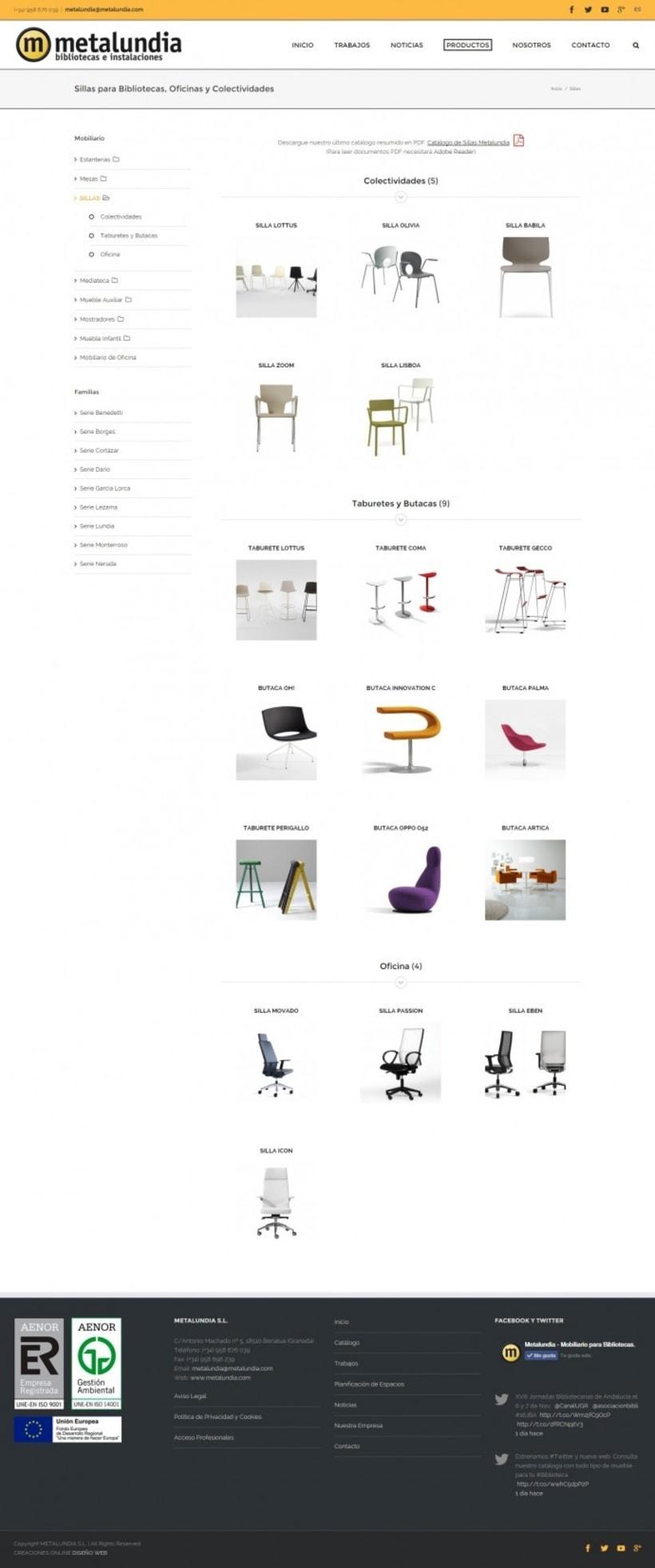 Nueva web corporativa para Metalundia S.L. 2