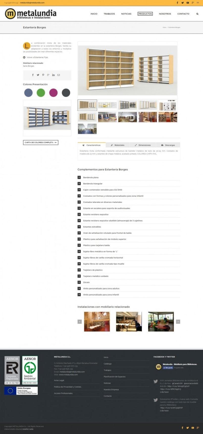 Nueva web corporativa para Metalundia S.L. 1