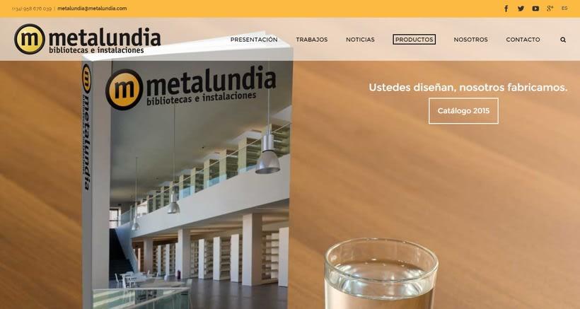 Nueva web corporativa para Metalundia S.L. 0