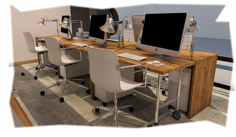 Diseño de oficina y aula de clases en espacio de coworking 5