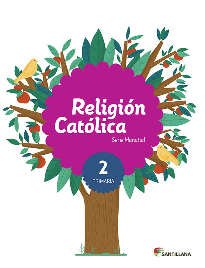 Portadas Santillana - Série Manantial / Religión Católica