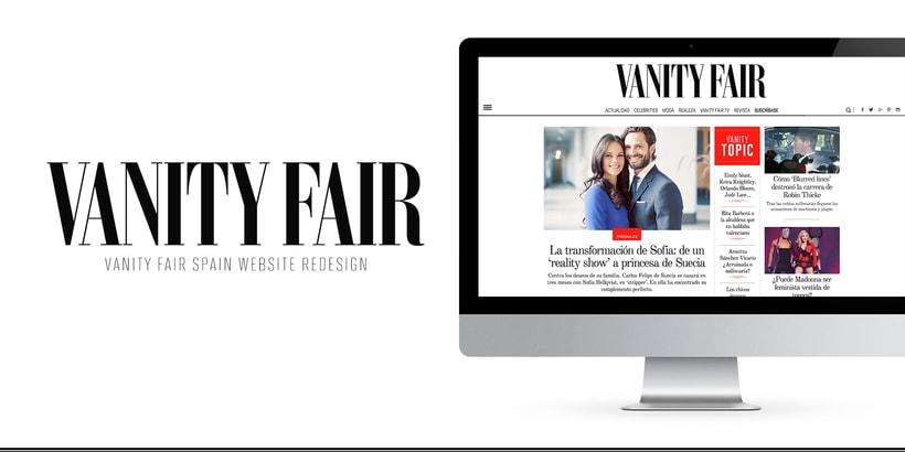 Rediseño Web para Vanity Fair España 0