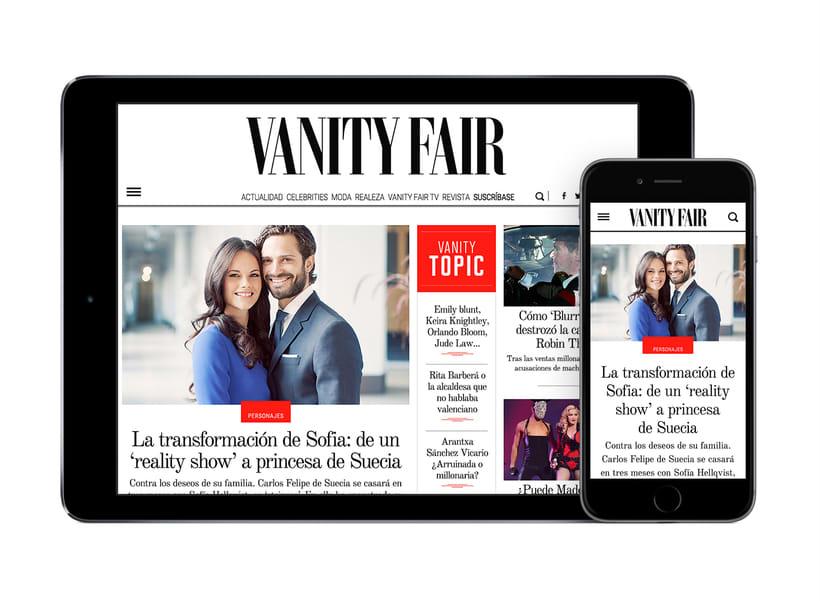 Rediseño Web para Vanity Fair España 1