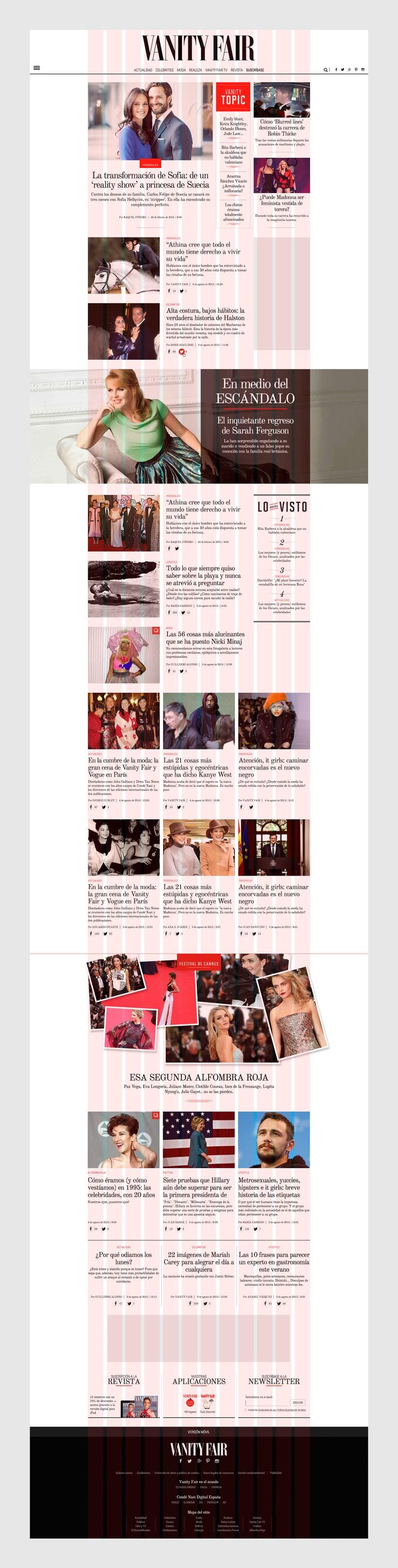Rediseño Web para Vanity Fair España 7