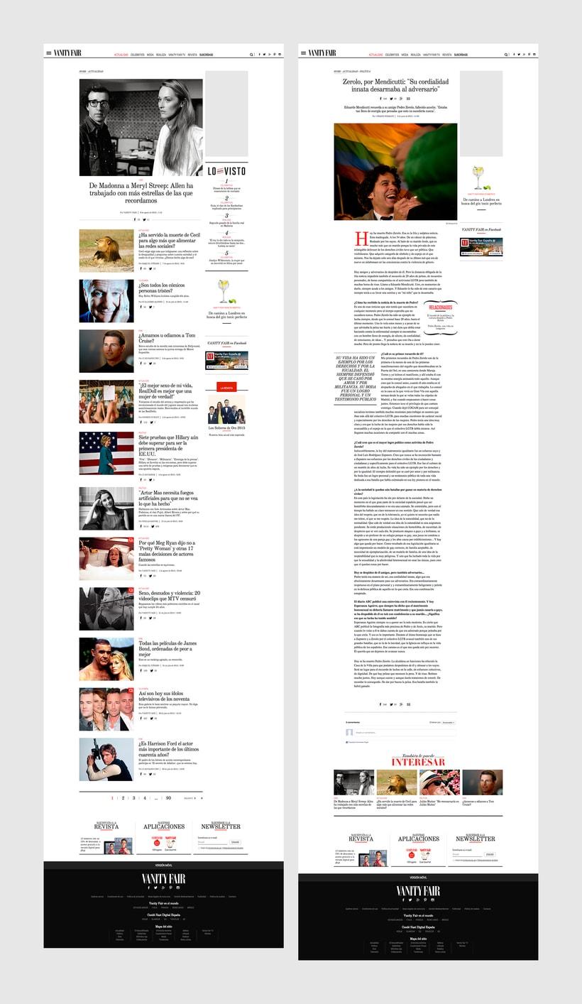 Rediseño Web para Vanity Fair España 9