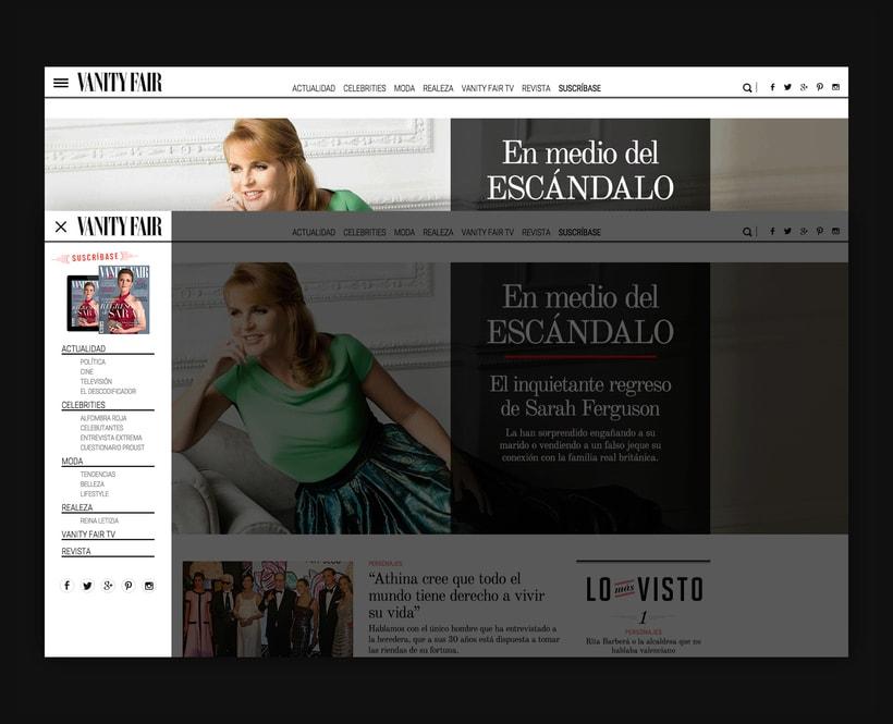 Rediseño Web para Vanity Fair España 11