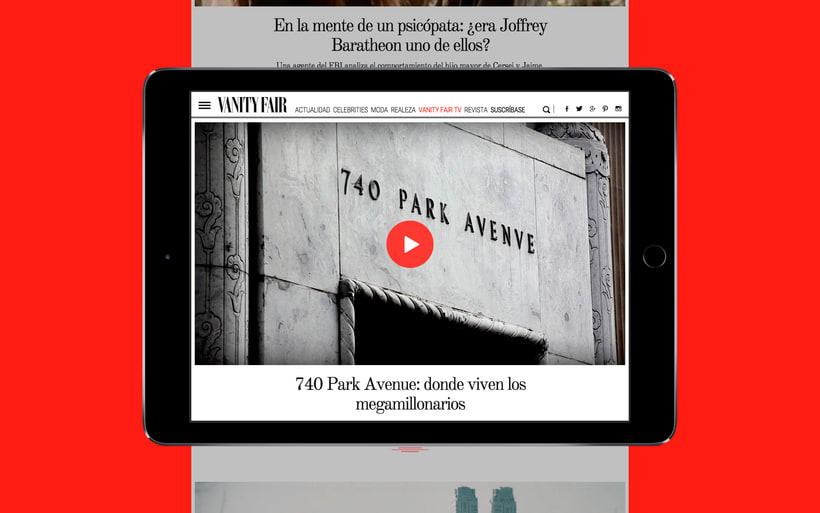 Rediseño Web para Vanity Fair España 14