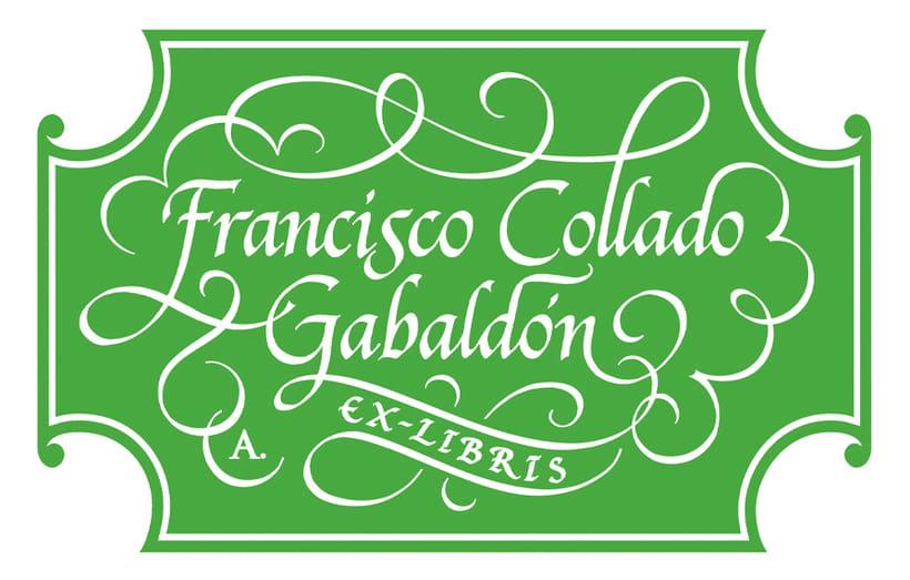 'Ex Libris' para Francisco C. Gabaldón 1