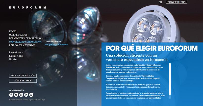 Fotografías conceptuales para la web de Euroforum España. 2