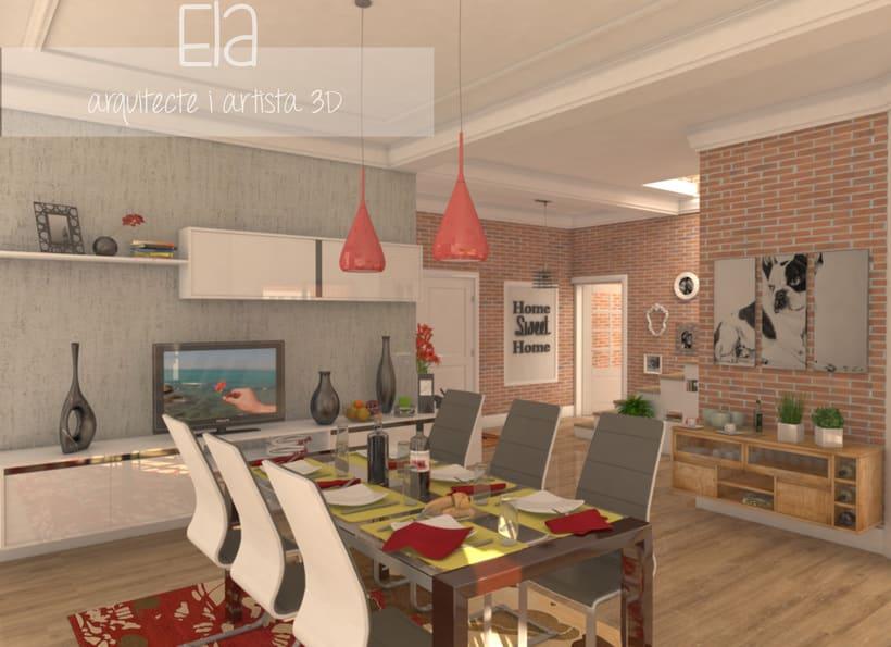 propuesta de diseo interior para una casa unifamiliar dstudio vray photoshop