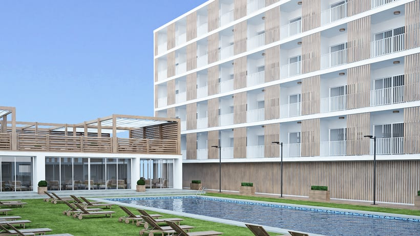 Dise o terrazas hotel domestika for Hotel diseno malaga
