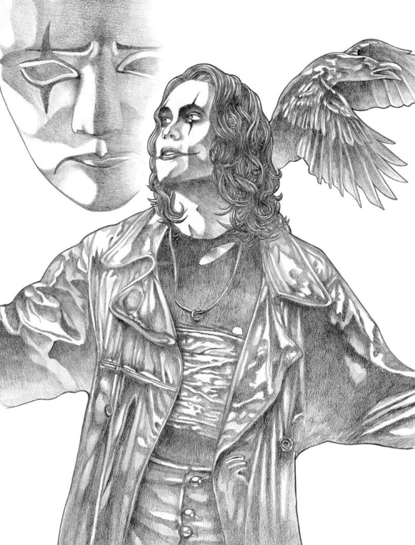"""it can't rain all the time"" The crow poster tribute 3"