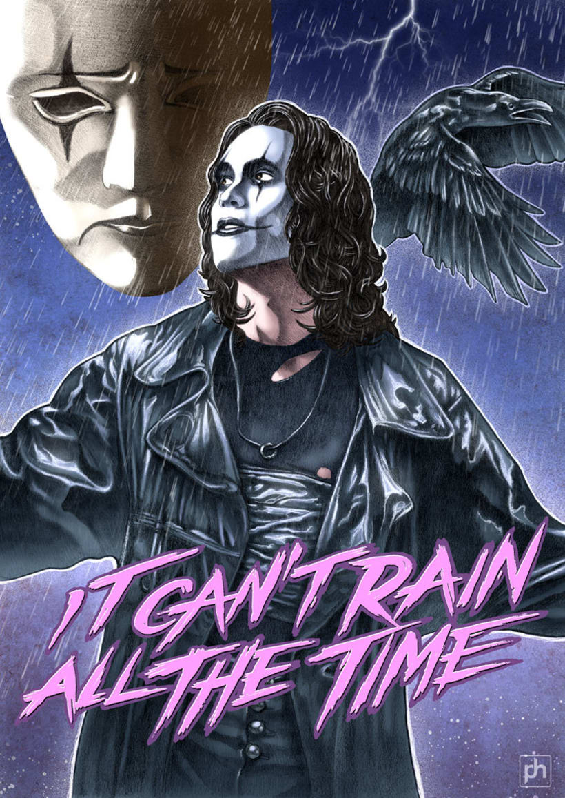 """it can't rain all the time"" The crow poster tribute 6"