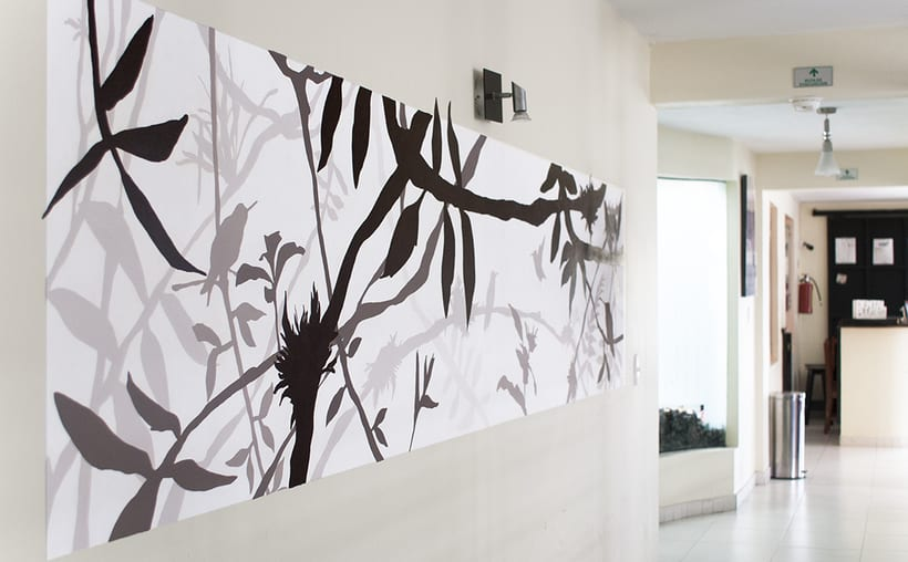 wall painting design dental plus clinic 1