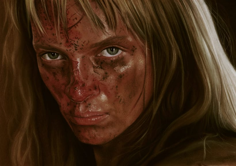 Retrato de Uma Thurman (Kill Bill) 0