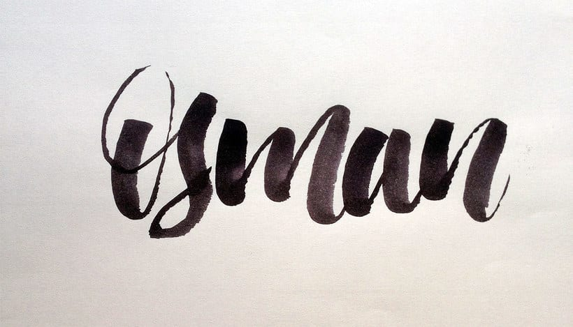 Osman Lettering and motion 7