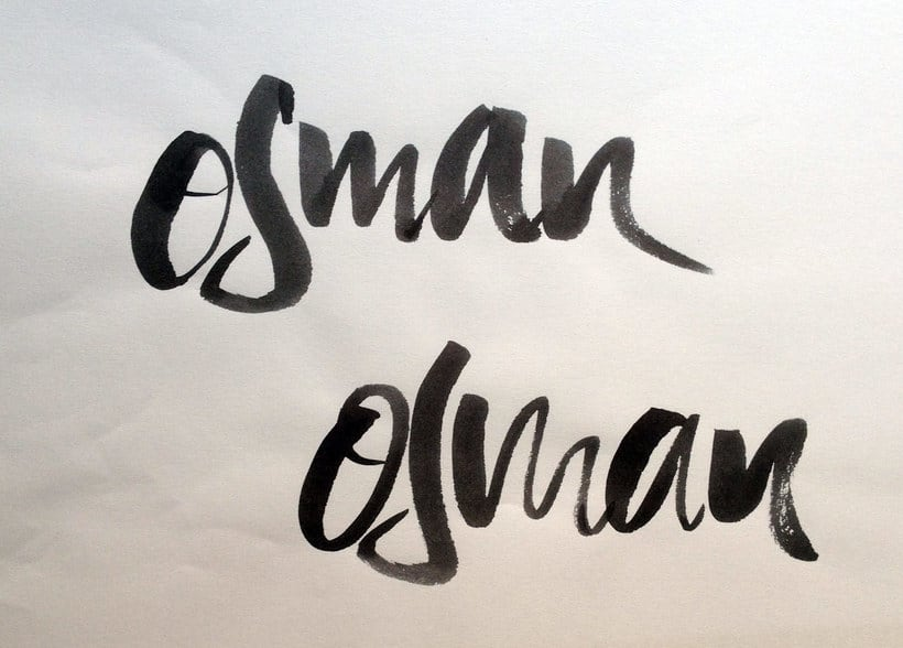 Osman Lettering and motion 12