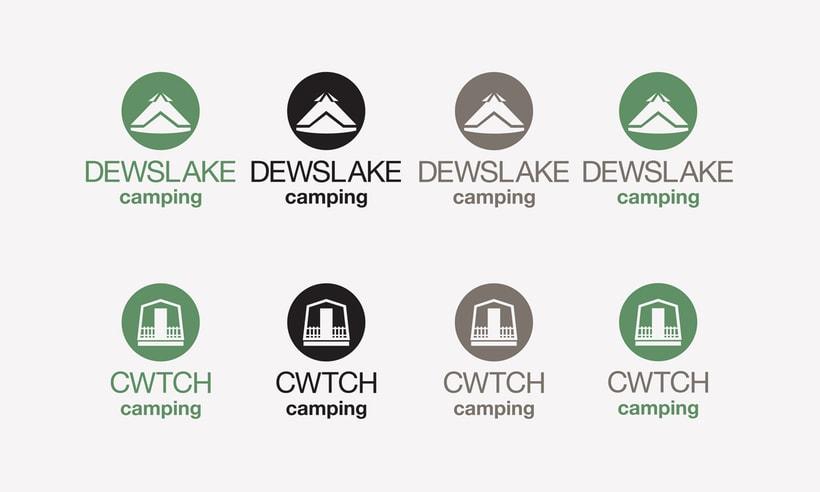 CWTCH & DEWSLAKE camping logotype. 1