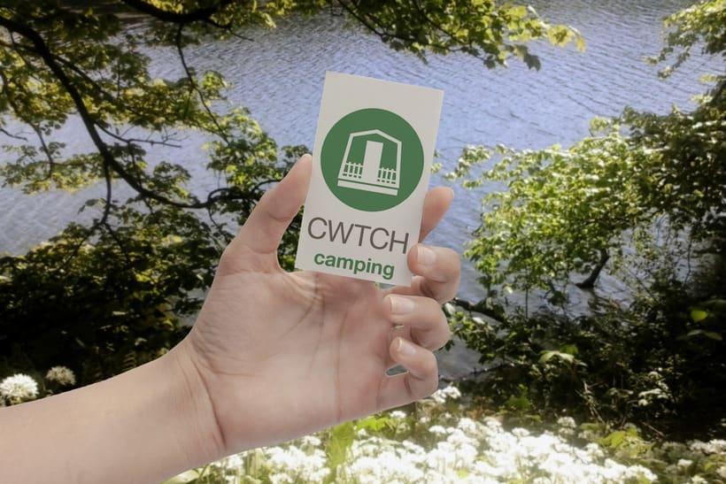 CWTCH & DEWSLAKE camping logotype. 3