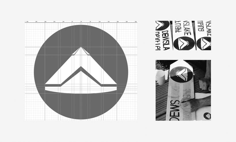 CWTCH & DEWSLAKE camping logotype. 4