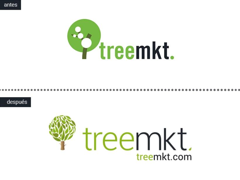 Rediseño de logo e imágen coorporativa para Treemkt. 0