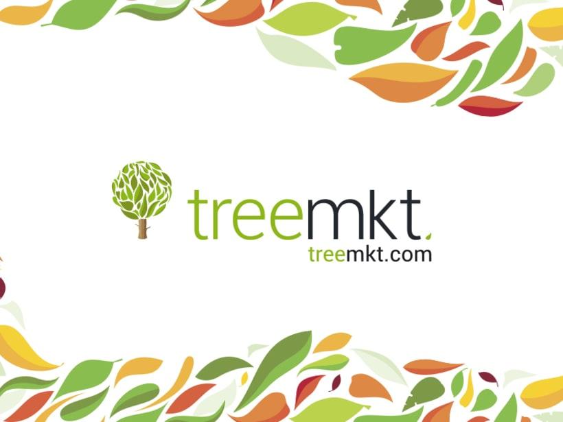 Rediseño de logo e imágen coorporativa para Treemkt. 1