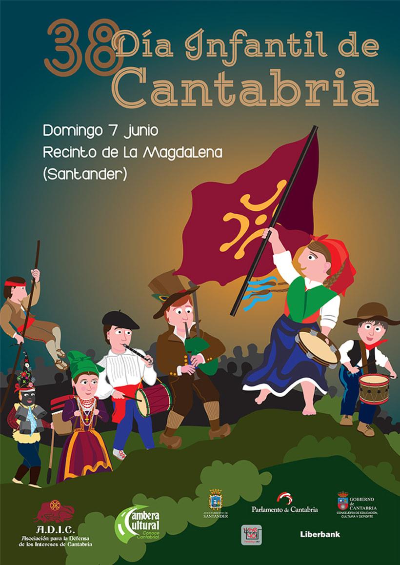 Cartel Día Infantil de Cantabria - 2015 1