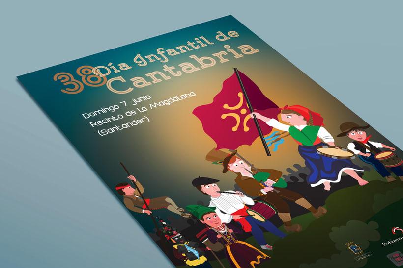 Cartel Día Infantil de Cantabria - 2015 4