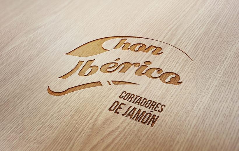 """Logotipo y desarrollo de imagen de """"Chon Ibérico"""" -1"""