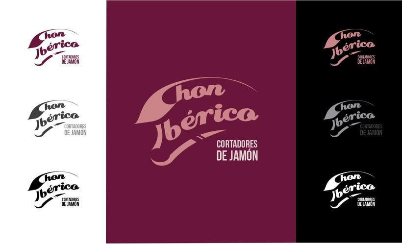 """Logotipo y desarrollo de imagen de """"Chon Ibérico"""" 1"""