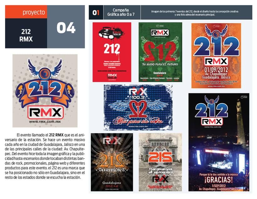 212 evento de rock por medio de RMX 1