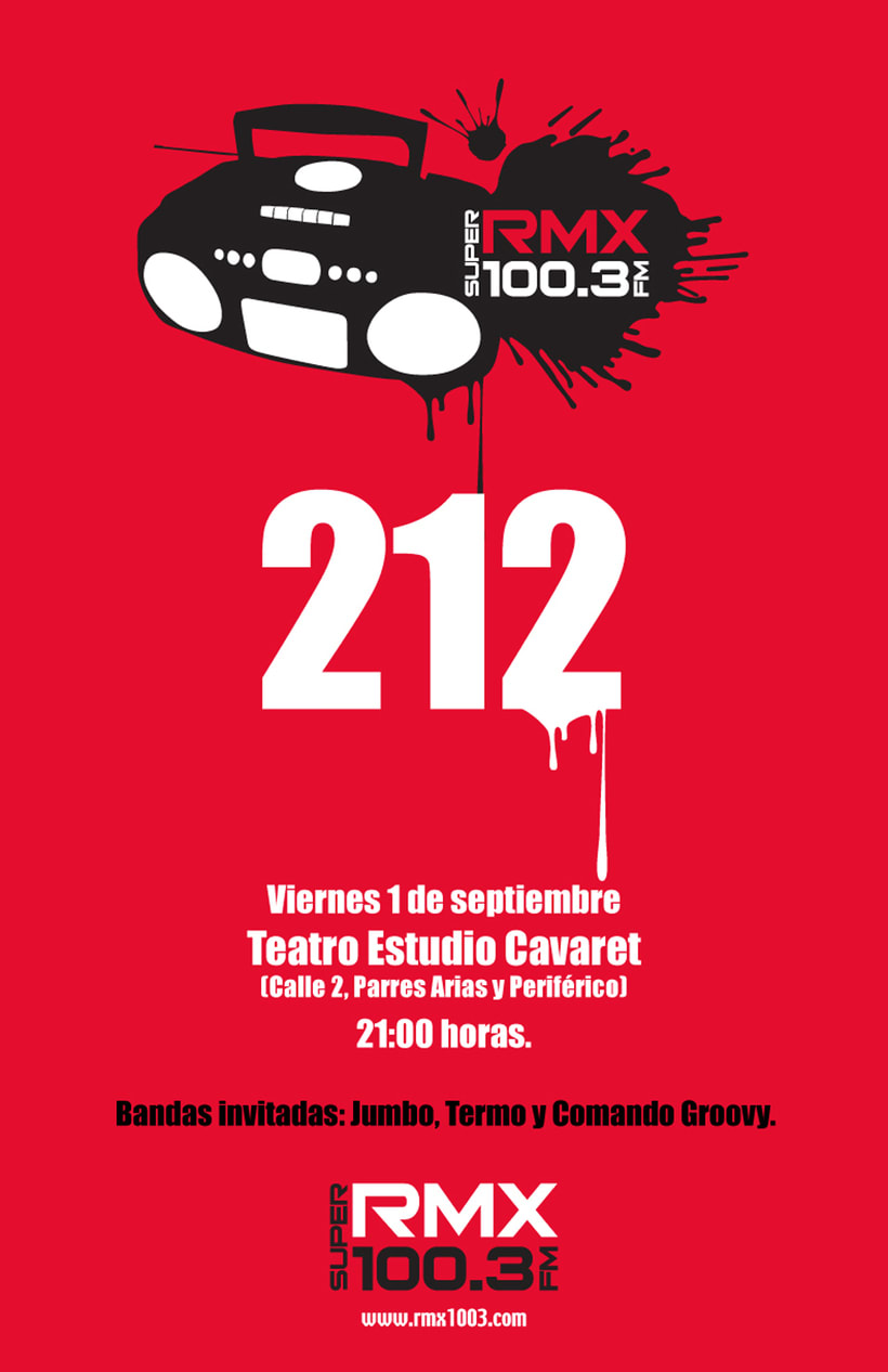 212 evento de rock por medio de RMX 2