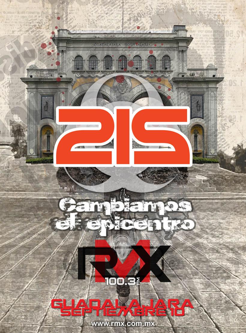 212 evento de rock por medio de RMX 6