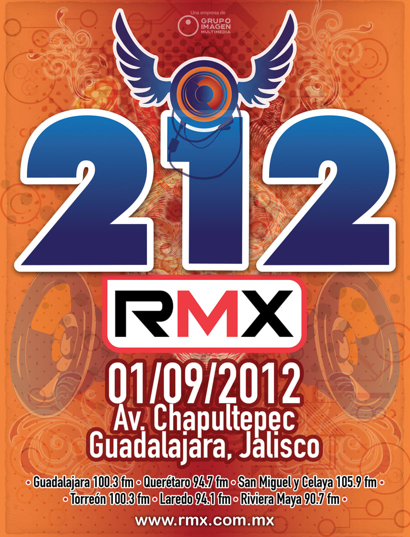 212 evento de rock por medio de RMX 7