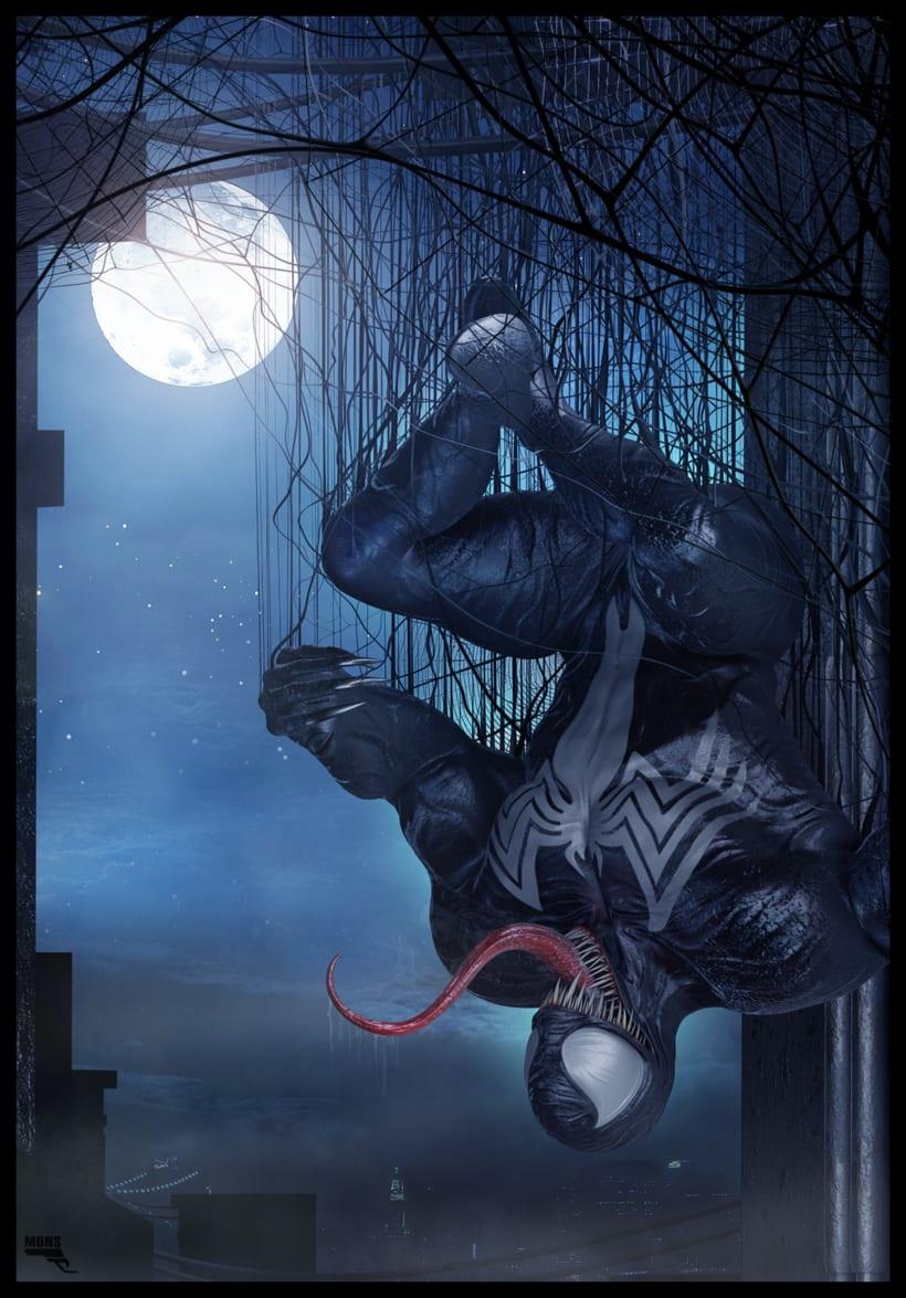 Venom. Marvel. 3D -1