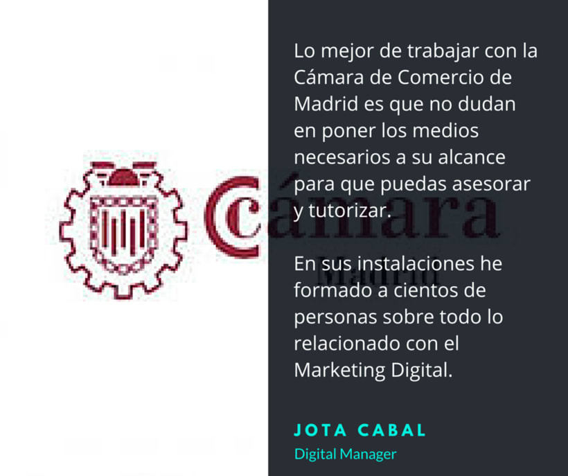 Cámara de Comercio - Formador Curso Superior Marketing en Internet 1