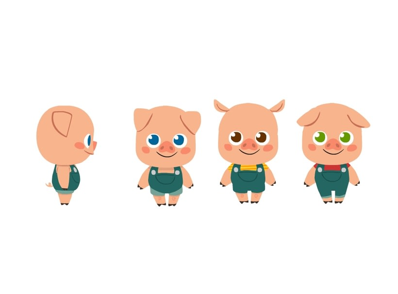 Character Design- 3 Little Pigs 1