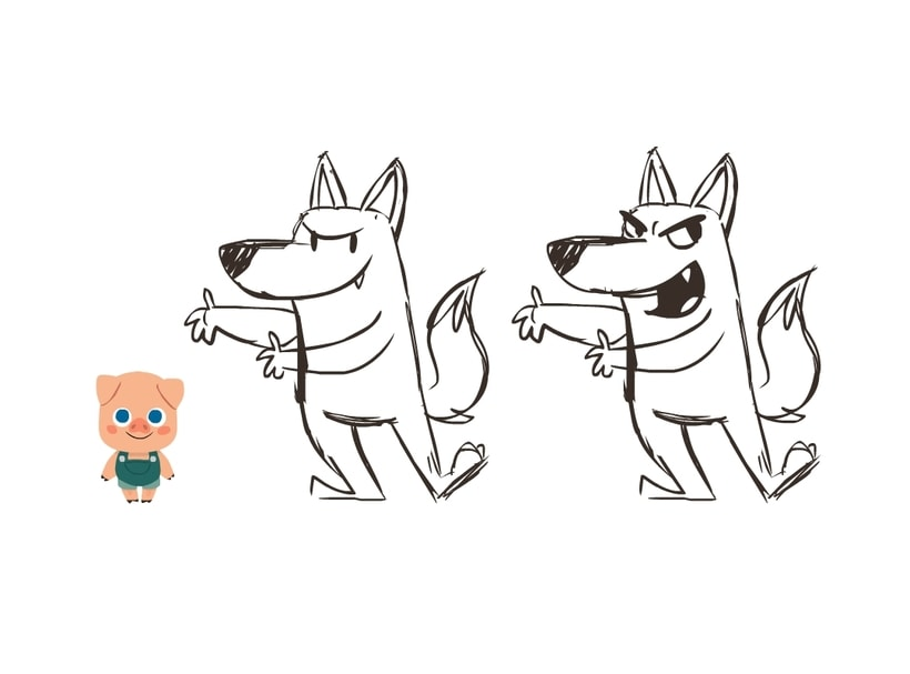 Character Design- 3 Little Pigs 5