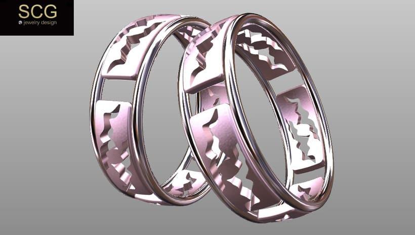Más diseños de la colección de alianzas de boda... 11