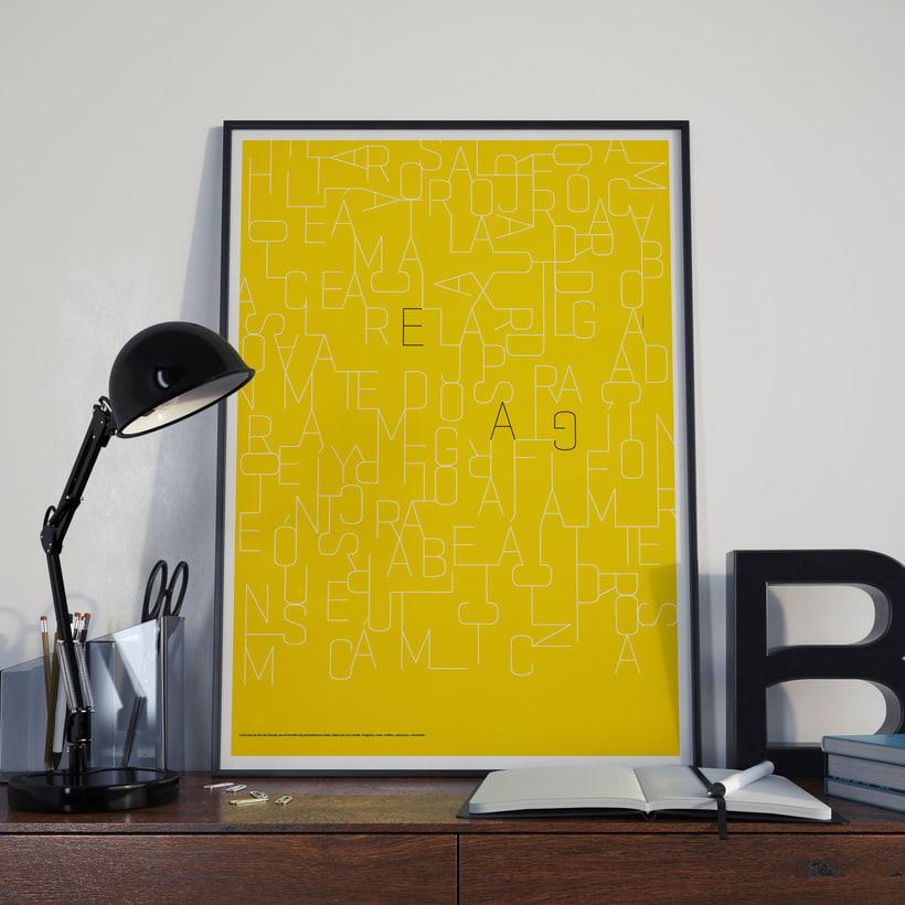Poster tipográfico para la Escuela de Arte de Granada  0