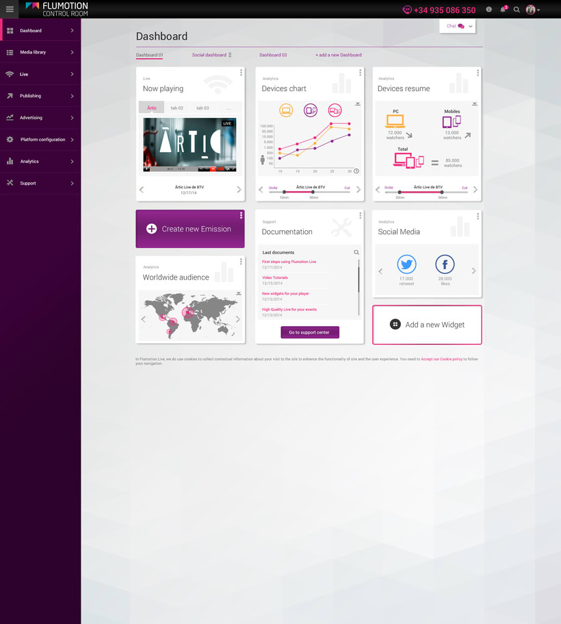 Flumotion Control Room, a B2B project to manage Flumotion streaming platform -1