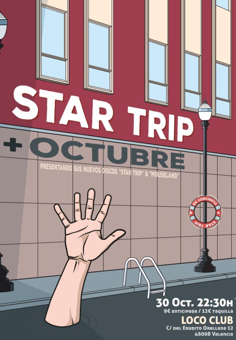 """Poster de presentación """"Star Trip"""" 1"""