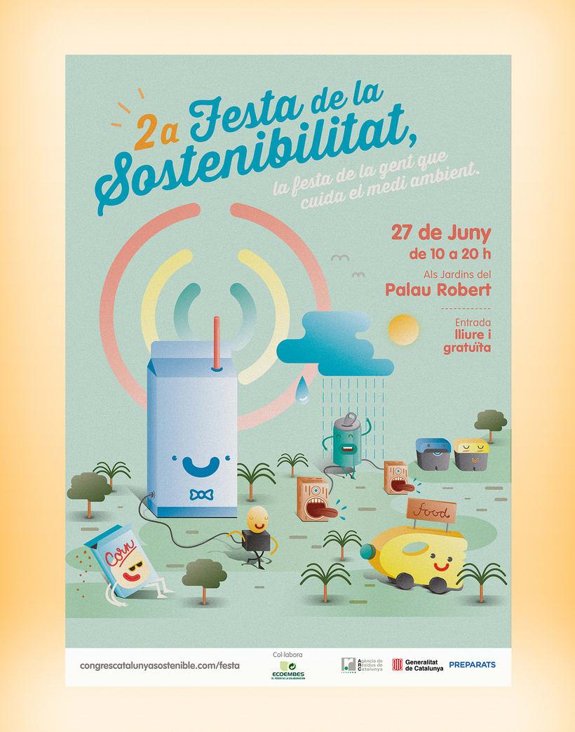 Festa de la sostenibilitat. Keyvisual, poster, site web y mobile. -1