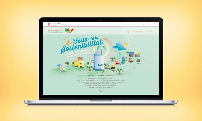 Festa de la sostenibilitat. Keyvisual, poster, site web y mobile. 1