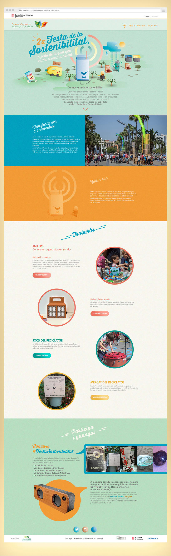 Festa de la sostenibilitat. Keyvisual, poster, site web y mobile. 2