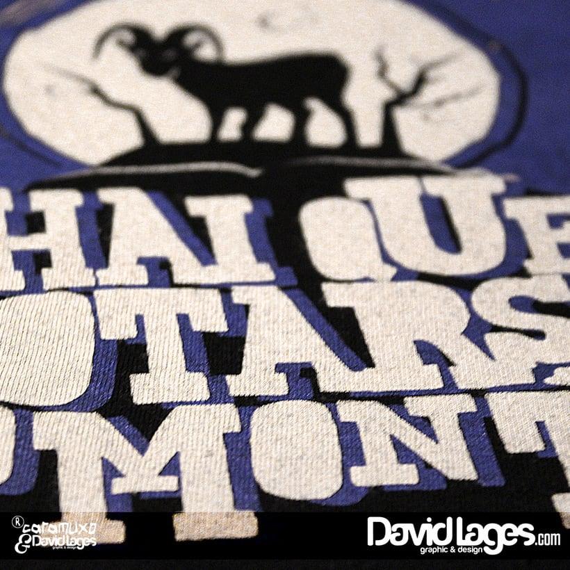 """Diseño de camiseta para (CARAMUXO camisolas da Galiza) """"Hai que botarse ao monte"""" 1"""