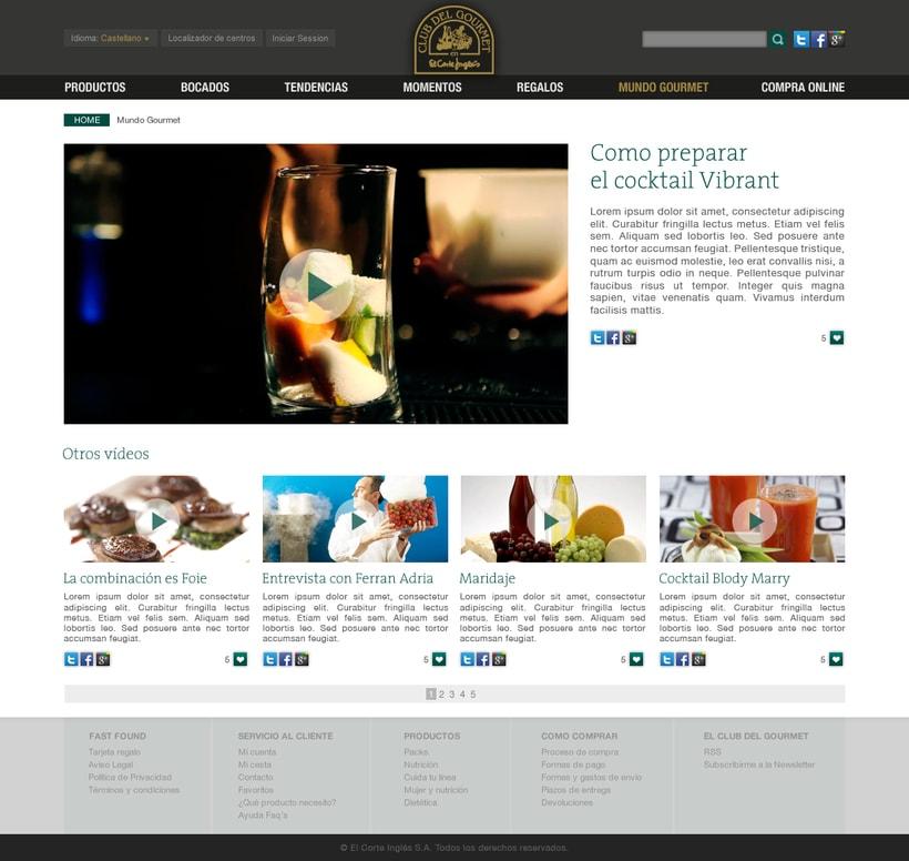 El Corte Ingles: Club Gourmet 0