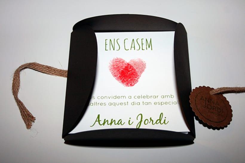 100 invitaciones de boda hechas a mano con serigrafía. 1