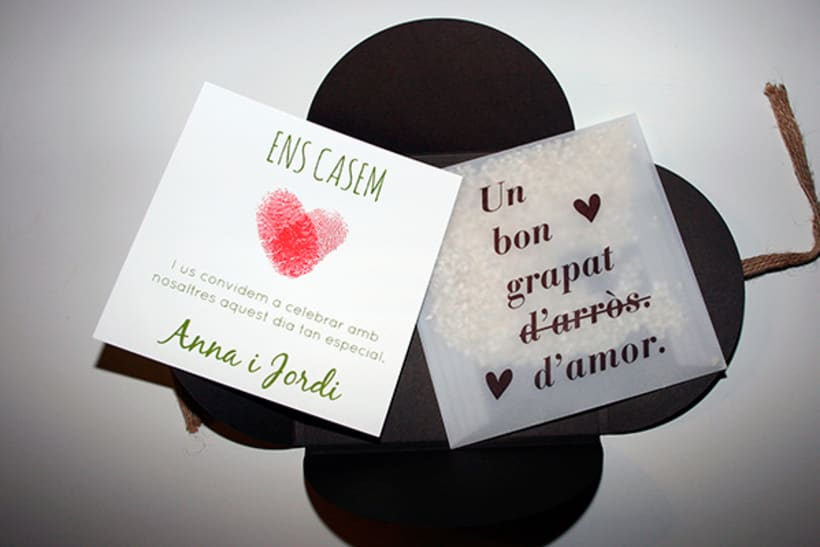 100 invitaciones de boda hechas a mano con serigrafía. 2