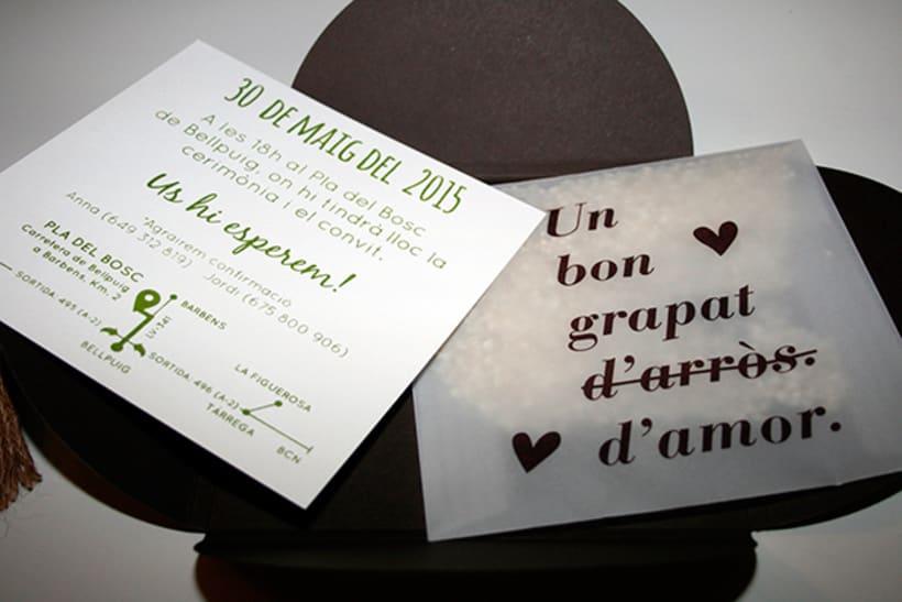 100 invitaciones de boda hechas a mano con serigrafía. 3